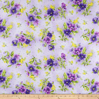 Maywood Studio Emma's Garden Pansy Bouquets Light Purple