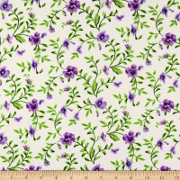 Maywood Studio Emma's Garden Trailing Pansy Cream
