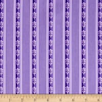 Maywood Studio Emma's Garden Little Stripe Purple