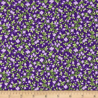 Maywood Studio Emma's Garden Calico Dark Purple