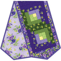 Maywood Studio Quilt Kit Pod Emma's Garden Log Cabin Table Runner Multi