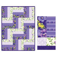 Maywood Studio Quilt Kit Pod Emma's Garden 12 Block Rail Fence Multi