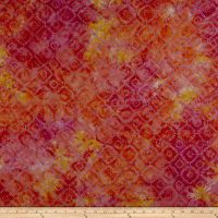 Maywood Studio Mango Tango Batiks Squares On Point Tropical Lavender
