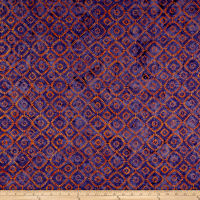 Maywood Studio Mango Tango Batiks Squares On Point Purple Orange