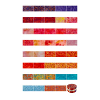 "Maywood Studio Mango Tango Batiks 2.5"" Strips 40 Pcs. Multi"
