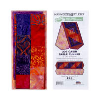 Maywood Studio Mango Tango Batiks Log Cabin Table Runner Multi