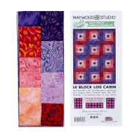 Maywood Studio Mango Tango Batiks 12 Block Log Cabin Quilt Multi