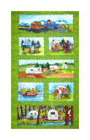 "Maywood Studio Quilter's Road Trip Road Trip 24"" Panel Multi"