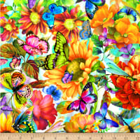 Fantasy Butterfly Floral Digital Multi