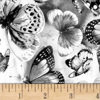 Fantasy Butterflies Digital Grey