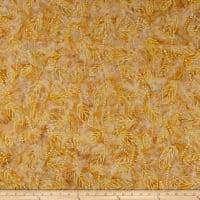 Wilmington Batiks Floating Leaves Tan/Yellow