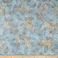 Wilmington Batiks Floating Leaves Blue/Brown