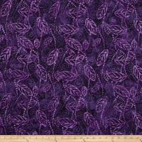Wilmington Batiks Floating Leaves Dark Purple