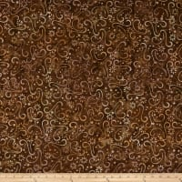 Wilmington Batiks Floral Patchwork Brown