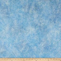 Wilmington Batiks Floral Patchwork Light Blue
