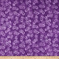 Wilmington Batiks Twirling Leaves Purple