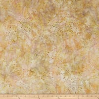 Wilmington Batiks Leaves and Circles Coral/Tan