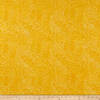 Wilmington Batiks Leaf and Flower Mix Yellow