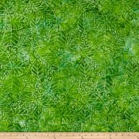 Wilmington Batiks Leaf and Flower Mix Green