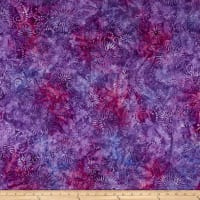 Wilmington Batiks Flower Burst Purple