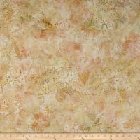 Wilmington Batiks Flower Burst Coral/Tan
