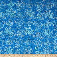 Wilmington Batiks Butterflies Blue