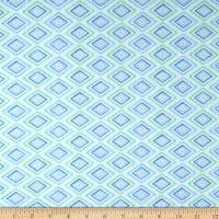 Wilmington Humming Along Diamond Geometric Blue