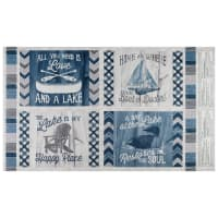 "Wilmington A Day At The Lake Pillow 24"" Panel Multi"