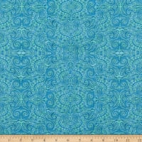 Wilmington Blossom and Bloom Bohemian Lace Teal
