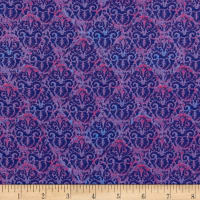 Wilmington Blossom and Bloom Nouveau Damask Purple