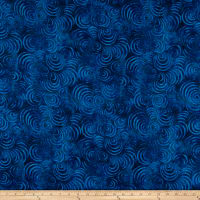 "Wilmington Essential 108"" Backing Whirlpools Dark Blue"
