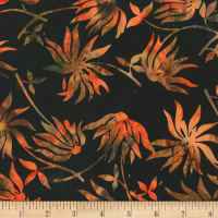 Anthology Fabrics  Art Inspired Automat  Black Eyed Susan Black