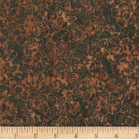 Anthology Fabrics  Art Inspired Autumn Rhythym Floral Cluster Cola