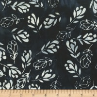 Anthology Batiks Art Inspired Singing Butler Falling Floral Black