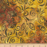 Anthology Fabrics  Art Inspired Singing Butler Spaced Floral Bronze