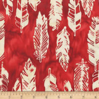 Anthology Fabrics Specialty Southwest Feathers Red