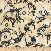 Anthology Fabrics Specialty Southwest Batik Kokopelli Cream