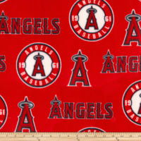 MLB Fleece Los Angeles Angels Red