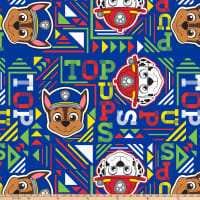 Nickelodeon Paw Patrol Top Pups Geo Antipill Fleece Navy