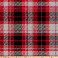 Plaid Double Brushed Fleece Black