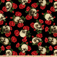 Skulls And Roses Double Brushed Fleece Multi