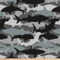 Shark Camo Double Brushed Fleece Black