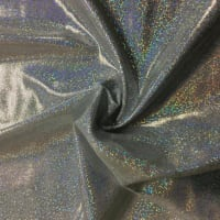 Pine Crest Fabrics Sparkly Jewels Hologram Dancewear Knit Silver/ White