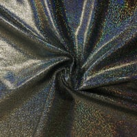 Pine Crest Fabrics Sparkly Jewels Hologram Dancewear Knit Silver/ Black