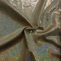 Pine Crest Fabrics Sparkly Jewels Hologram Dancewear Knit Gold/ Gold