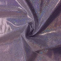 Pine Crest Fabrics Sparkly Jewels Hologram Dancewear Knit Silver/ Lilac