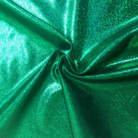 Pine Crest Fabrics Sparkly Jewels Hologram Dancewear Knit Green/ Black