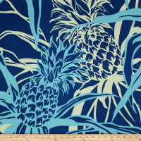 Trans-Pacific Textiles Pineapple Canvas Navy