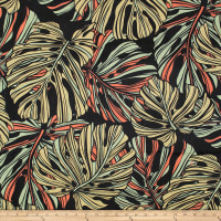 Trans-Pacific Textiles Monstera Canvas Black