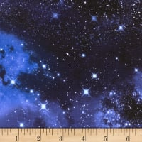 Timeless Treasures Knit Galaxy Space